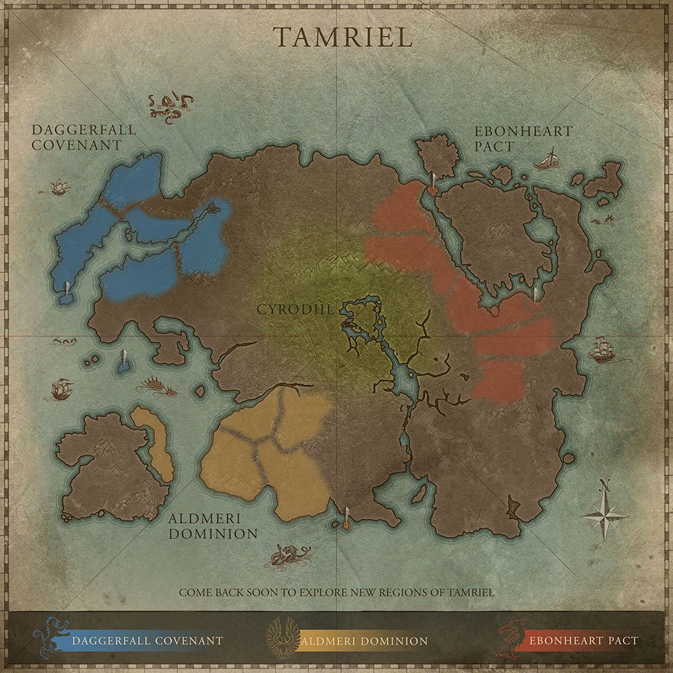 Map Of Tamriel